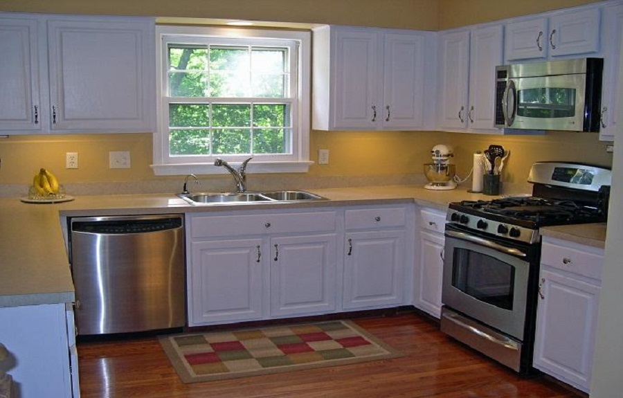 l shaped kitchen remodel photo - 2