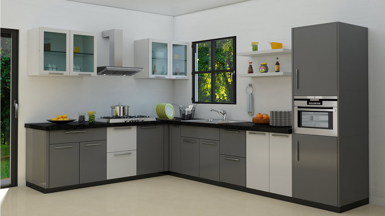 l shaped kitchen remodel photo - 5