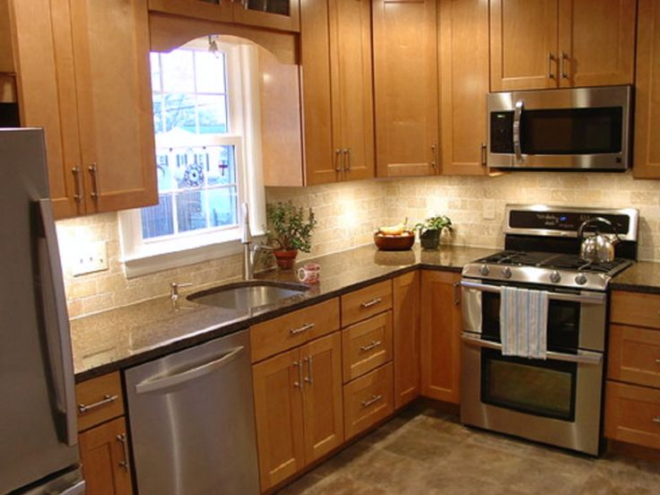 l shaped kitchen remodel photo - 7