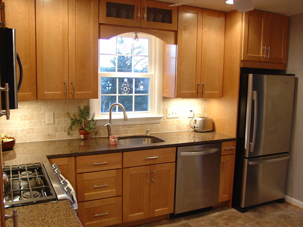 l shaped kitchen remodel photo - 8