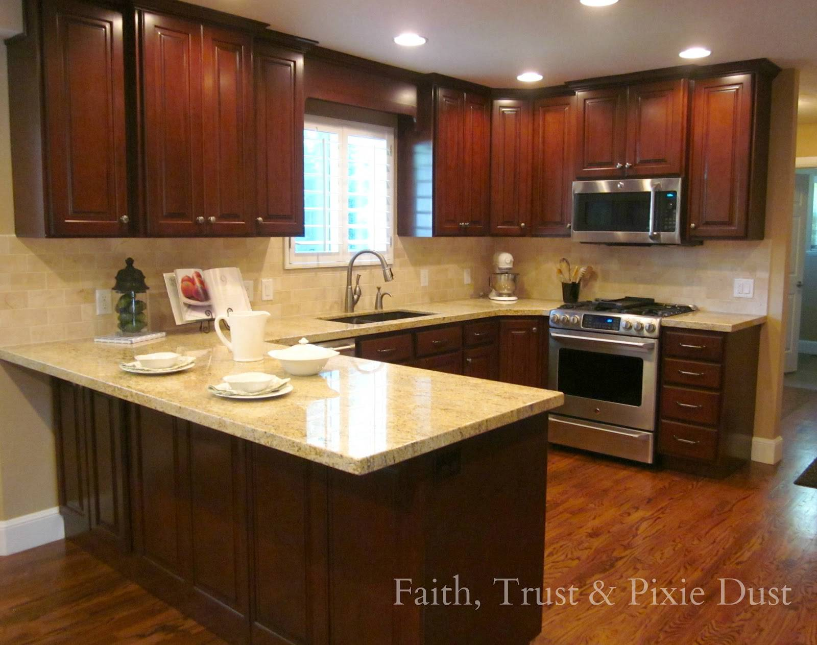 l shaped kitchen remodel photo - 9