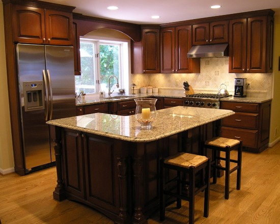 l shaped kitchen with island designs photo - 1