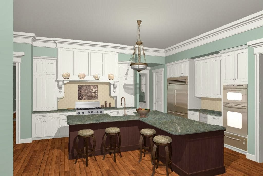 l shaped kitchen with island designs photo - 2