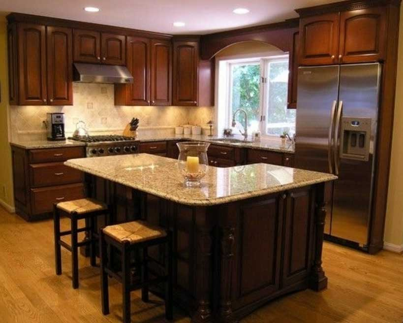 l shaped kitchen with island designs photo - 5