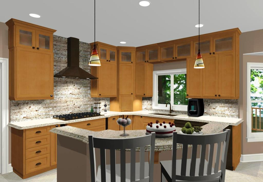 l shaped kitchen with island designs photo - 6