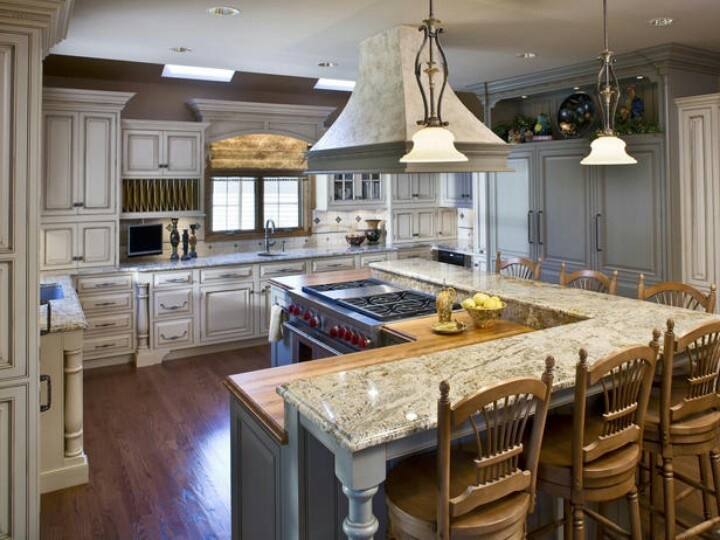 l shaped kitchen with island designs photo - 8