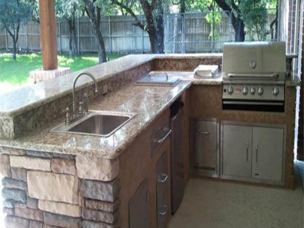 l shaped outdoor kitchen plans photo - 2