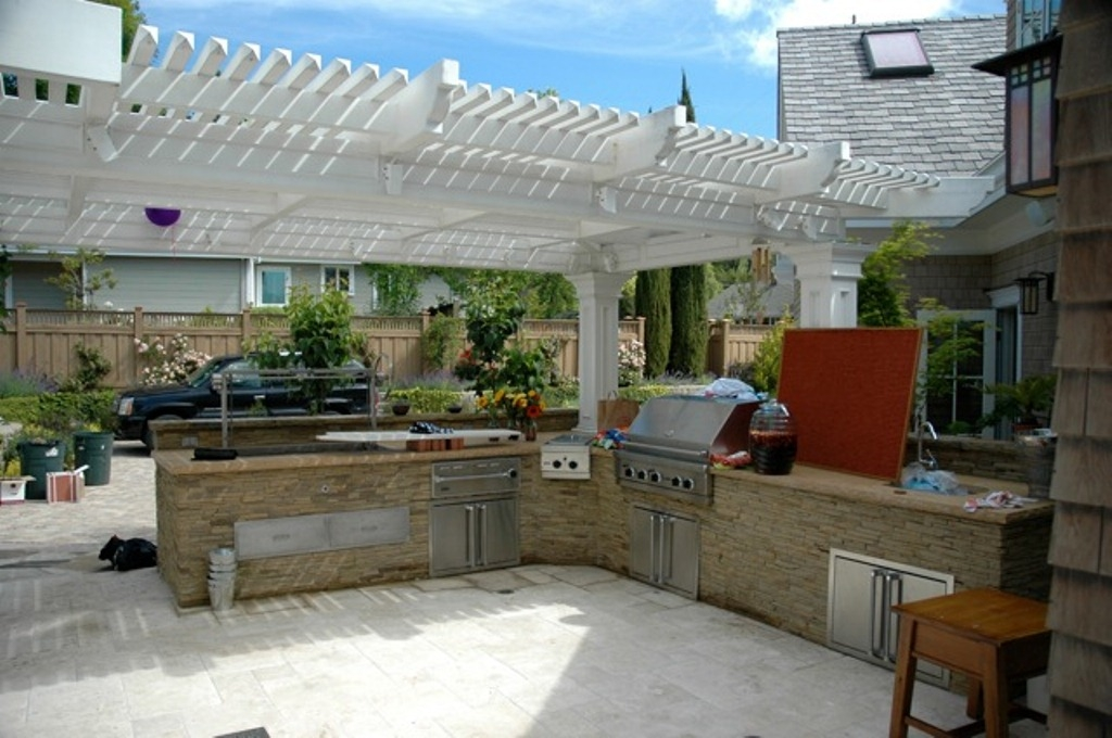 l shaped outdoor kitchen plans photo - 5