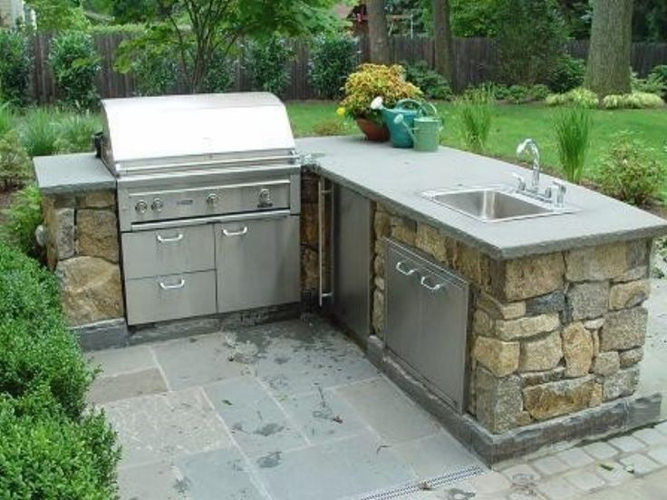 l shaped outdoor kitchen plans photo - 7