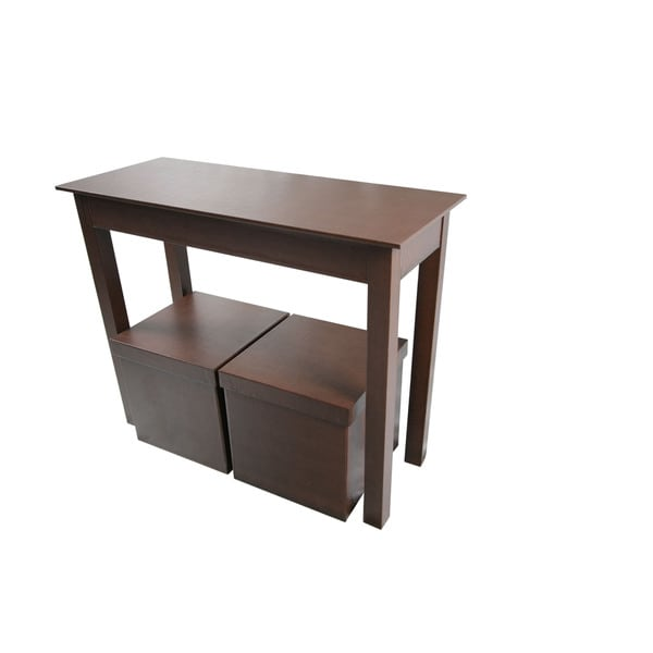 lachlan glossy black sofa table photo - 7
