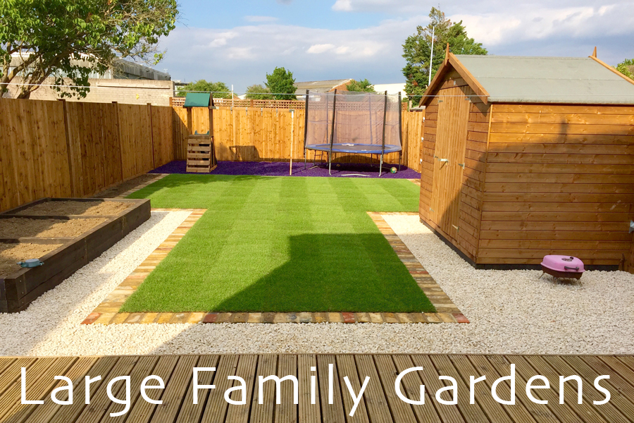 large family garden design photo - 5