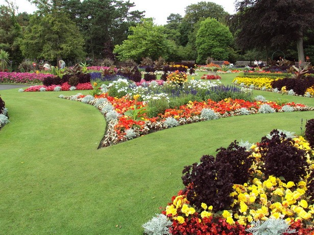 large flower garden design photo - 2
