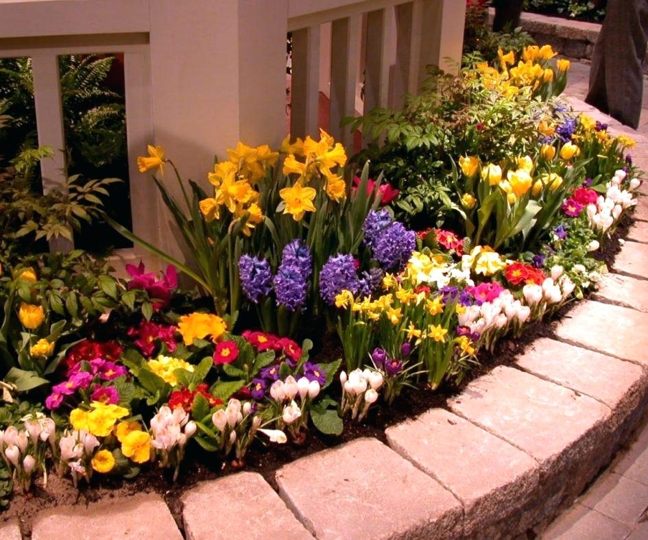 large flower garden design photo - 9