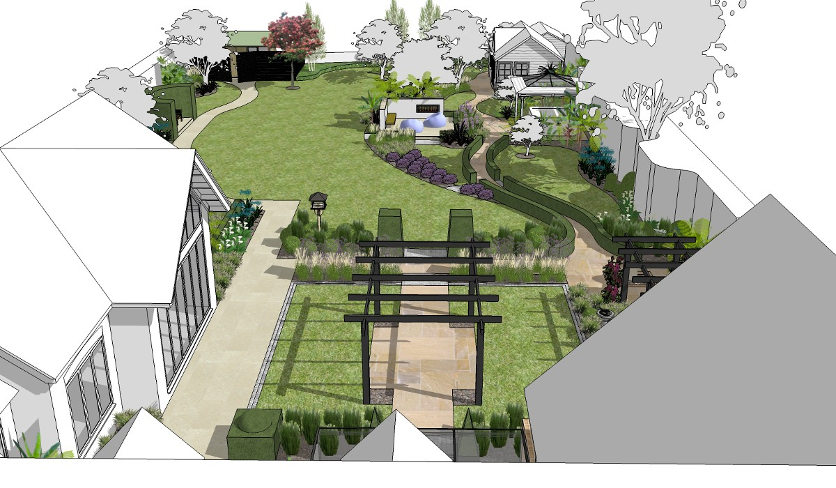 large garden designs plans photo - 7