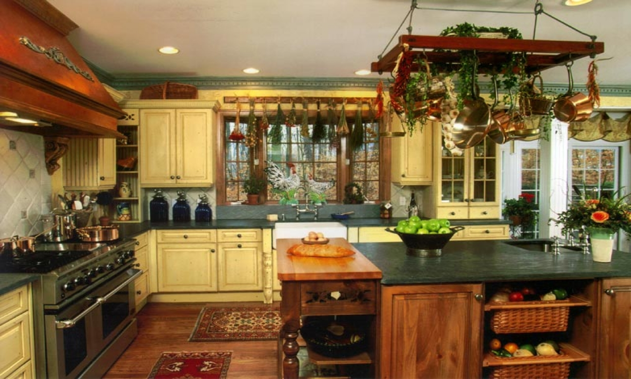 latest country kitchen designs photo - 2