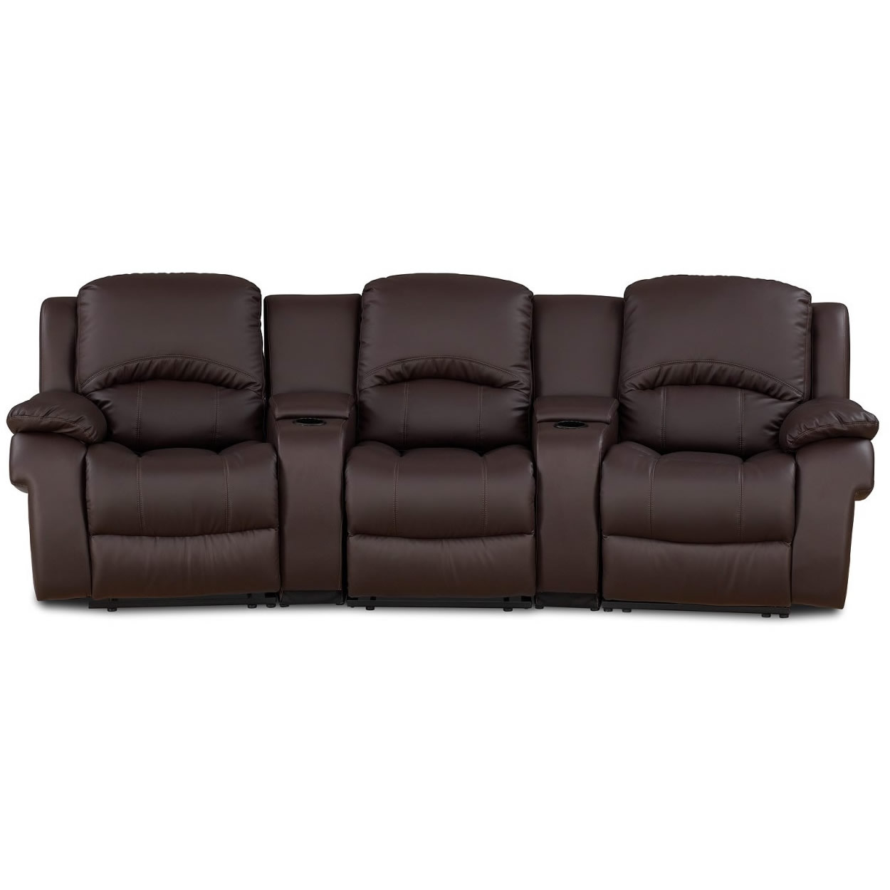 leather sectional sofa bed recliner photo - 1