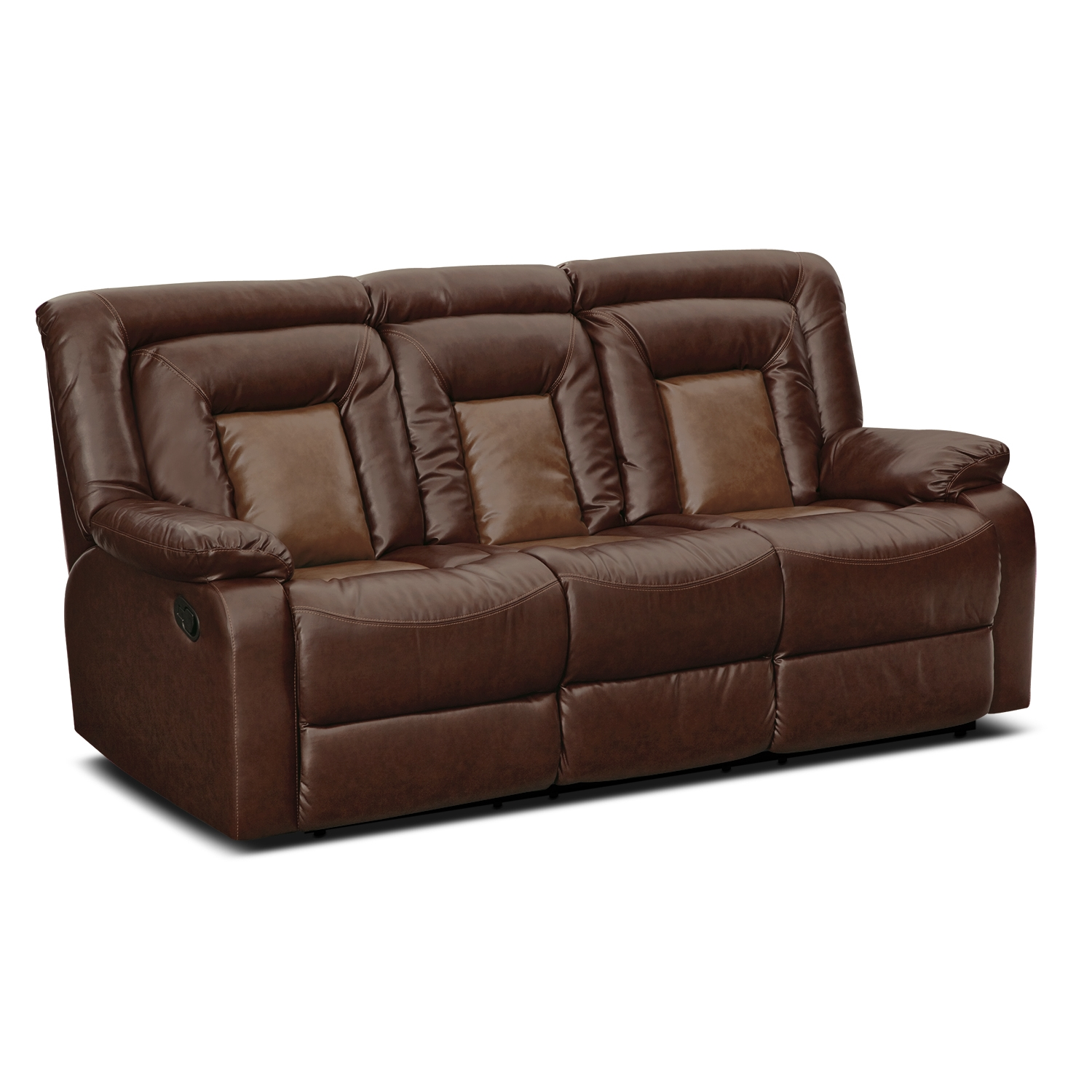 leather sectional sofa bed recliner photo - 4