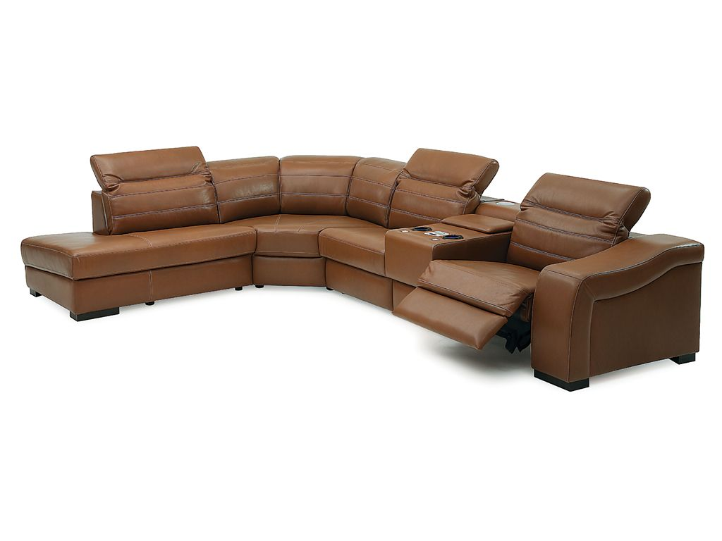 leather sectional sofa bed recliner photo - 7