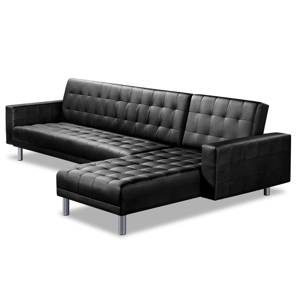 leather sectional sofa bed recliner photo - 8