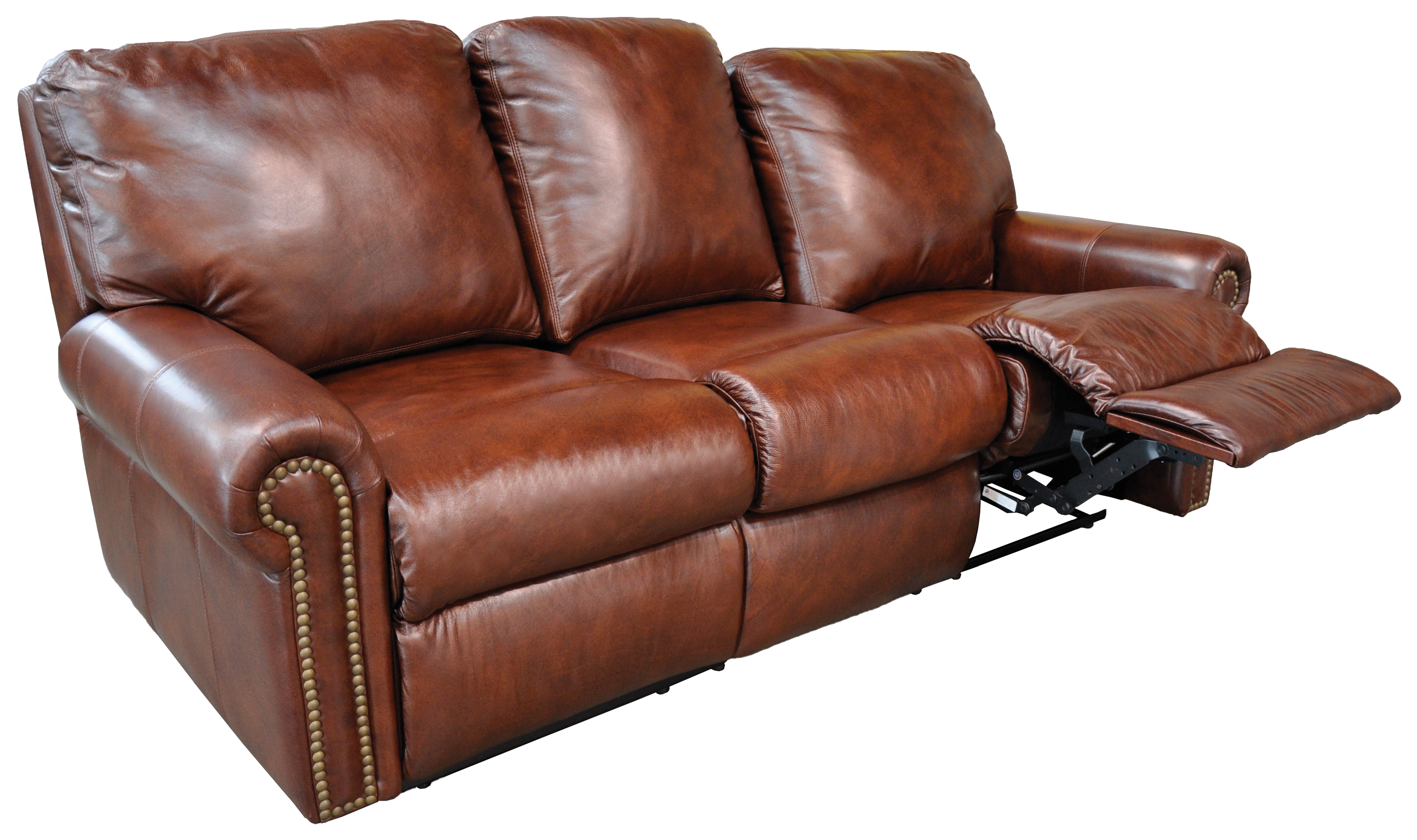 leather sectional sofa bed recliner photo - 9