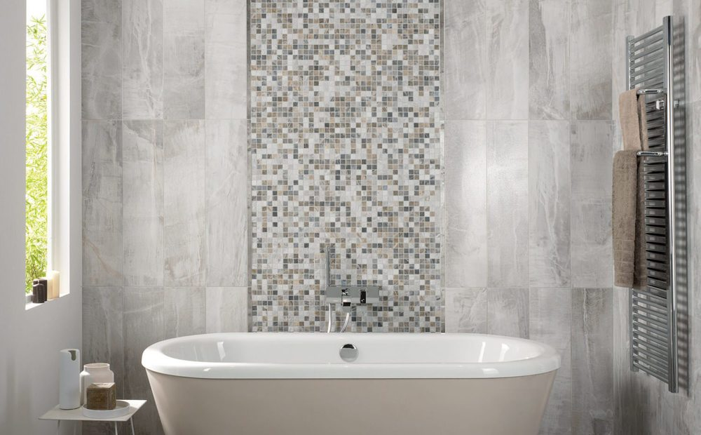 light grey bathroom tiles designs photo - 10