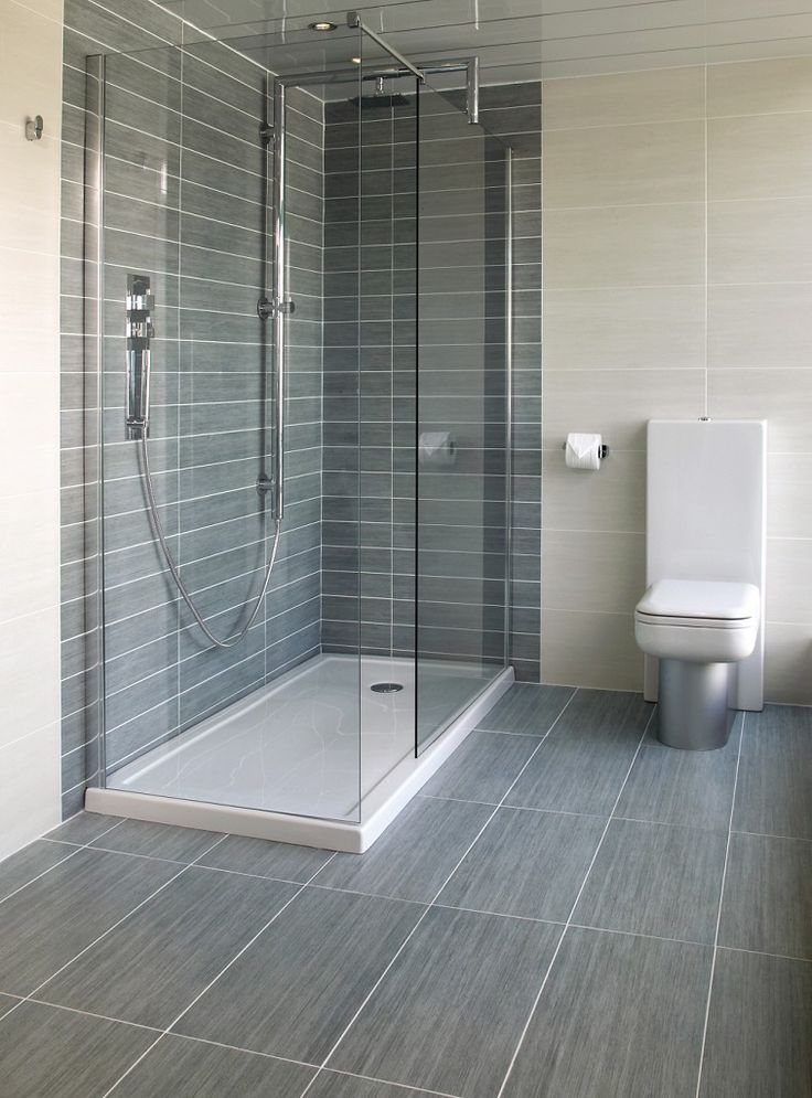 light grey bathroom tiles designs photo - 4