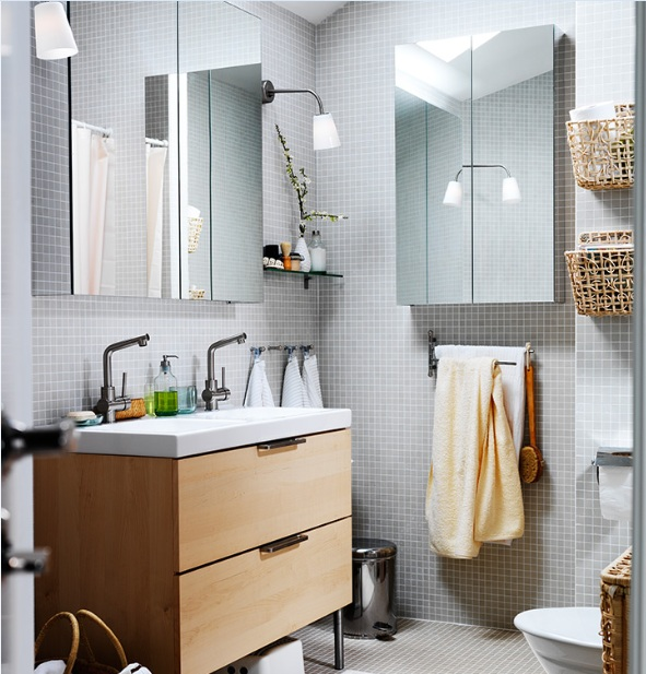 light grey bathroom tiles designs photo - 5