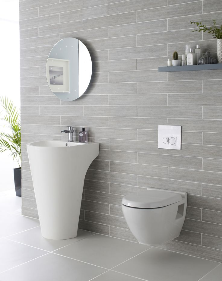 light grey bathroom tiles designs photo - 6