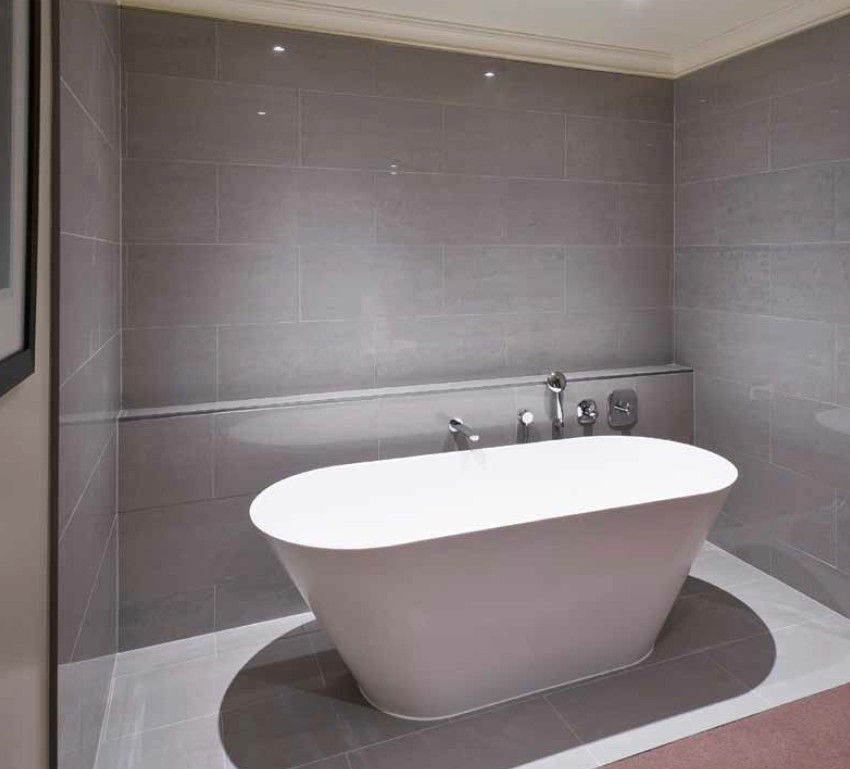 light grey bathroom tiles designs photo - 8