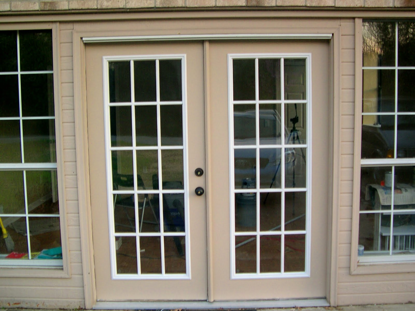 lowes double french doors exterior photo - 1