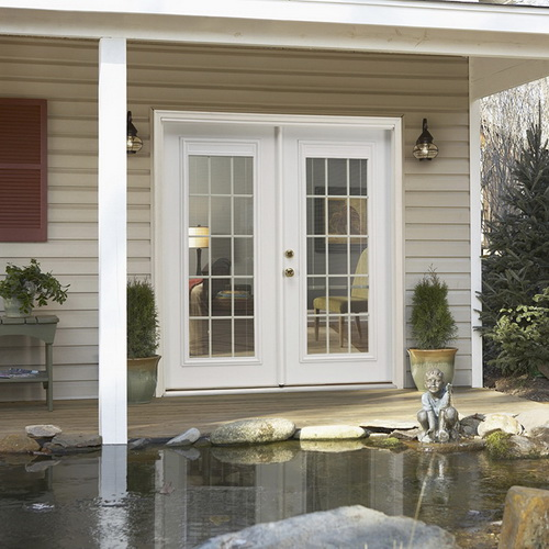 lowes double french doors exterior photo - 9