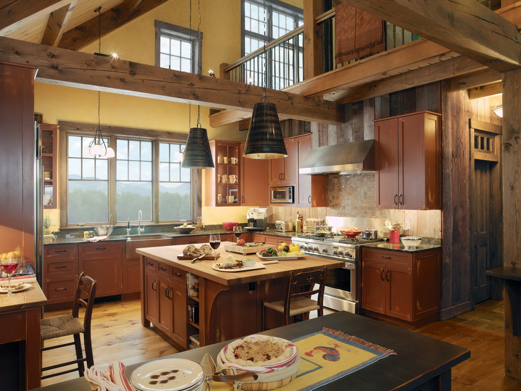 luxury country kitchen designs photo - 3