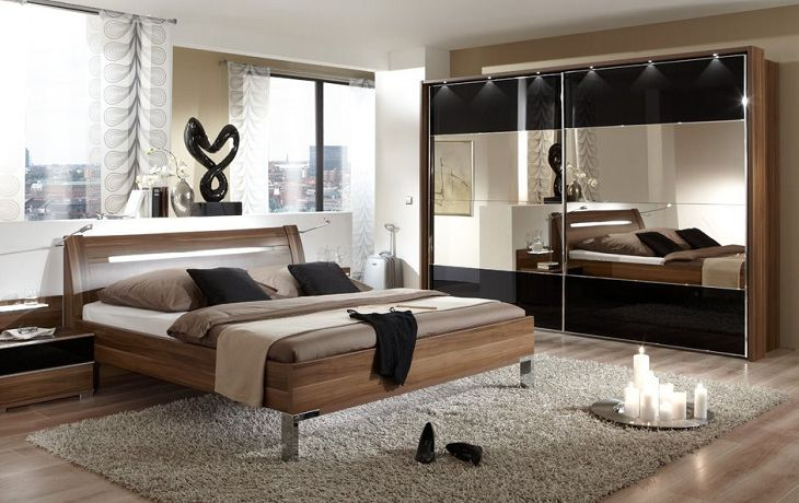 luxury mirrored bedroom furniture photo - 5