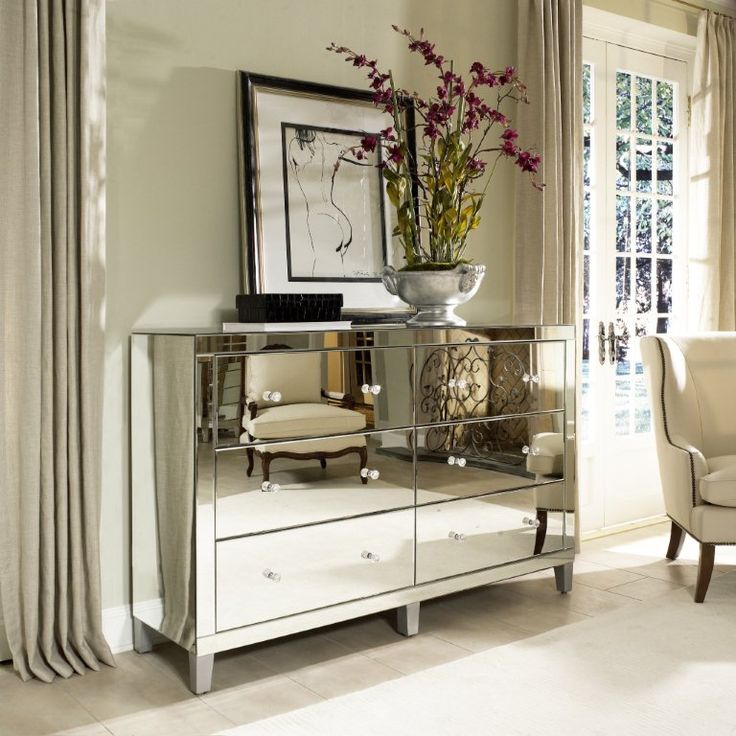 luxury mirrored bedroom furniture photo - 6