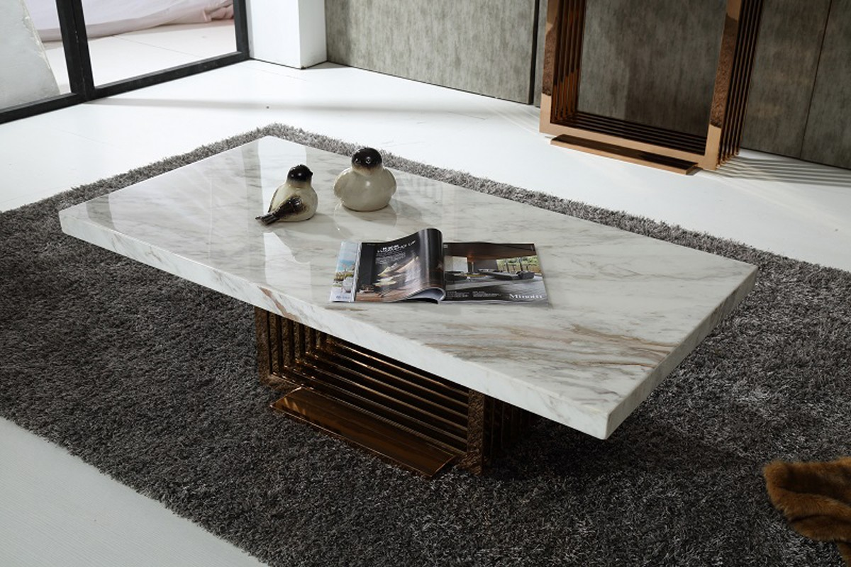 marble coffee table design photo - 4