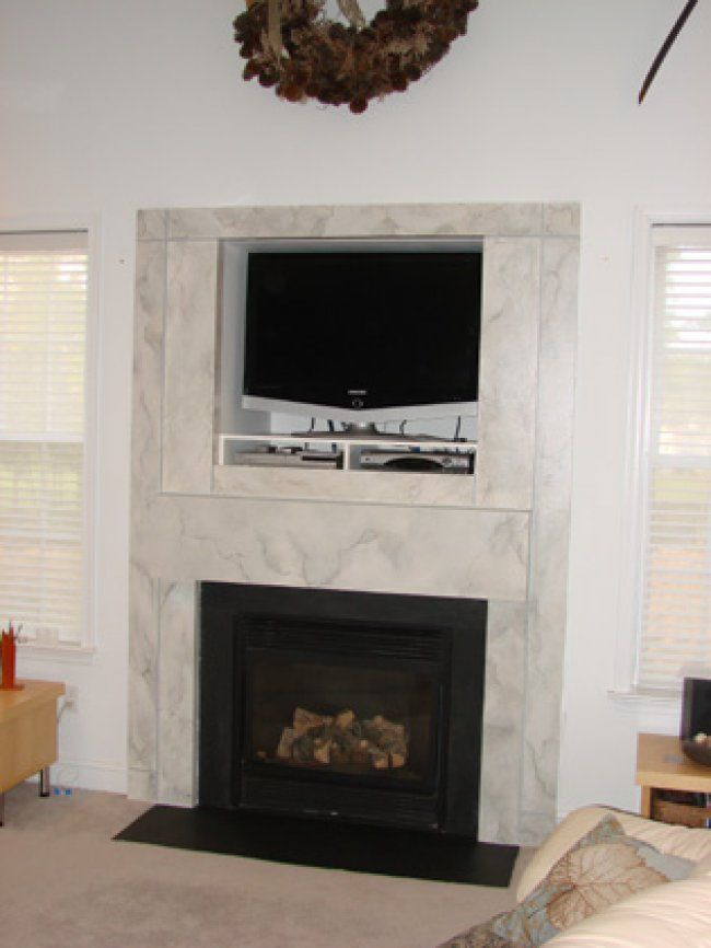 marble fireplace surround ideas photo - 4