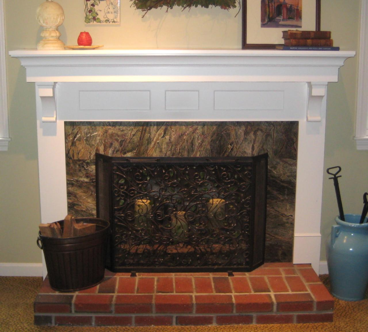 marble fireplace surround ideas photo - 5