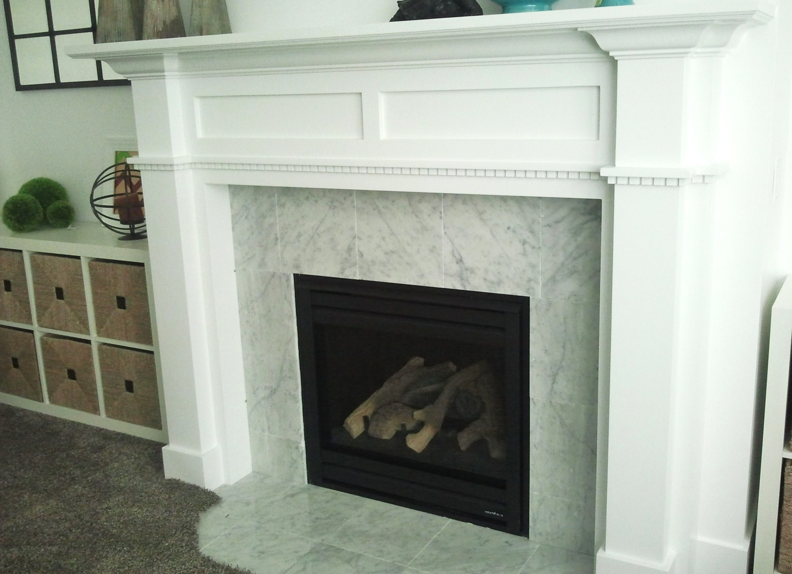 marble fireplace surround ideas photo - 6