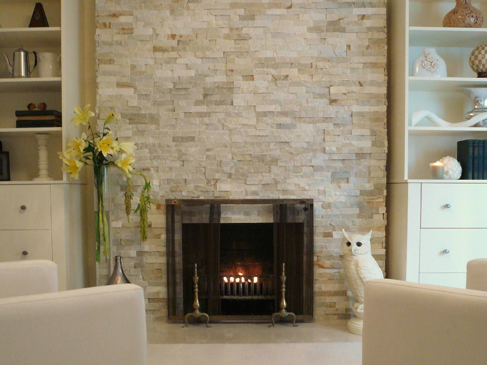 marble fireplace surround ideas photo - 7
