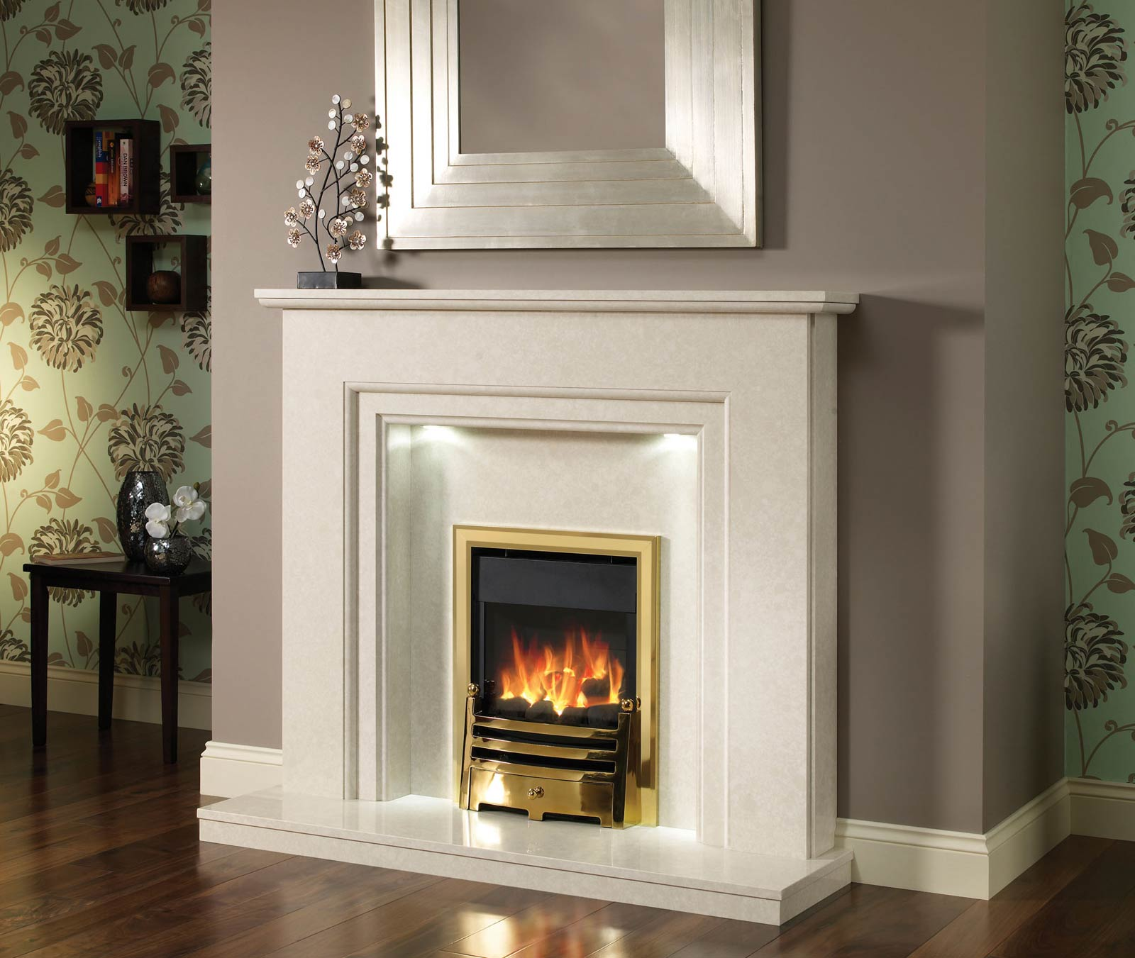 marble fireplace surround ideas photo - 9