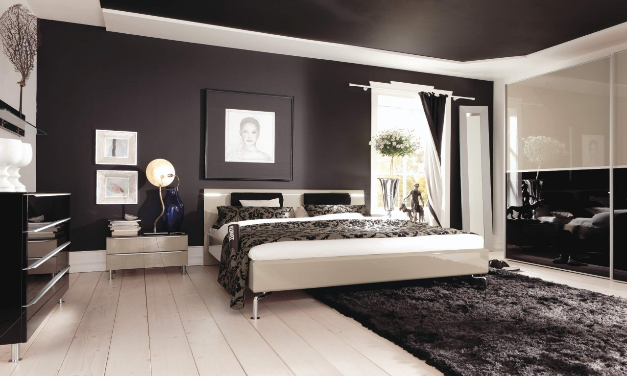 master bedroom black furniture photo - 2