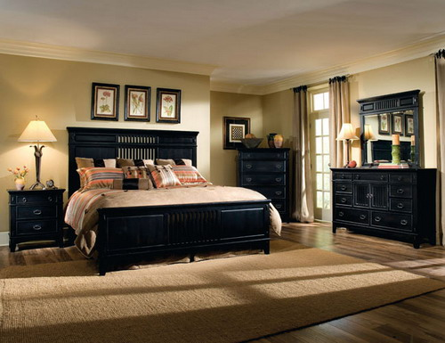 master bedroom black furniture photo - 4