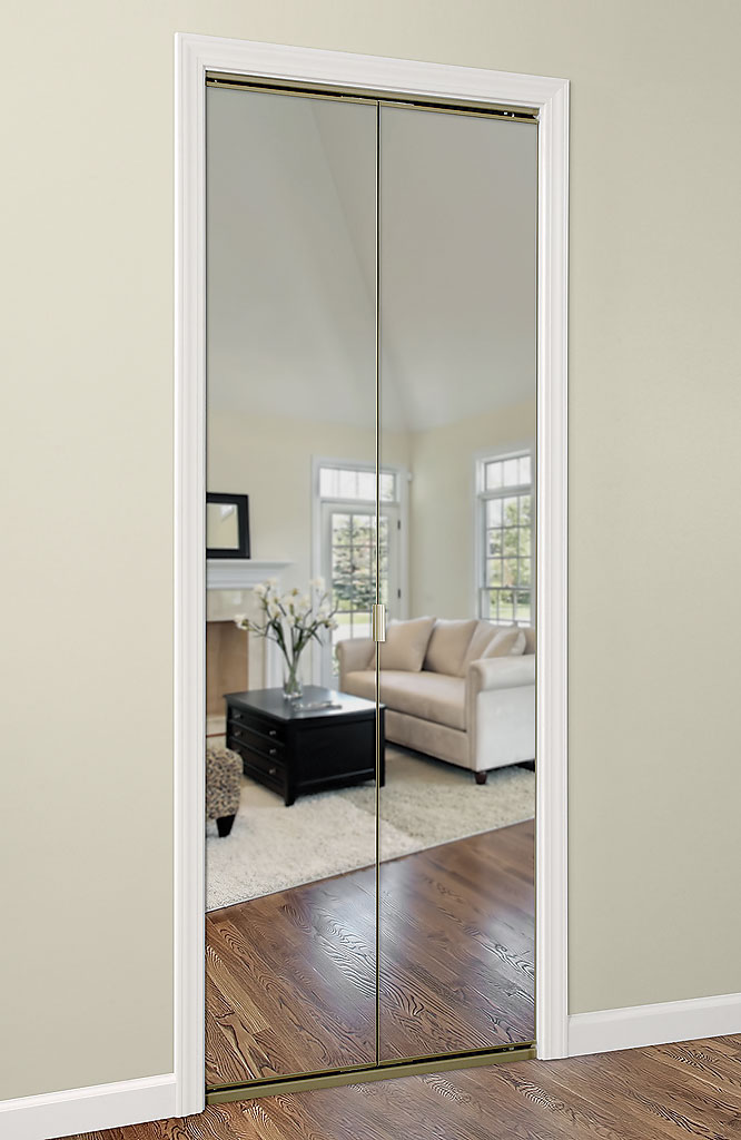mirrored closet doors bifold photo - 5