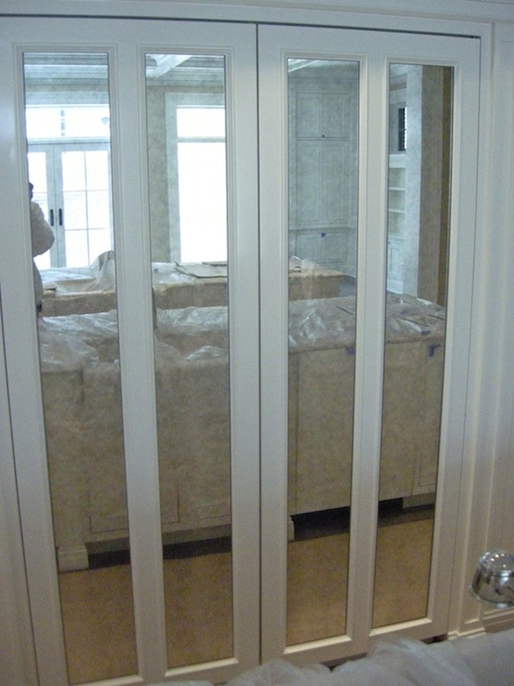 mirrored closet doors bifold photo - 7