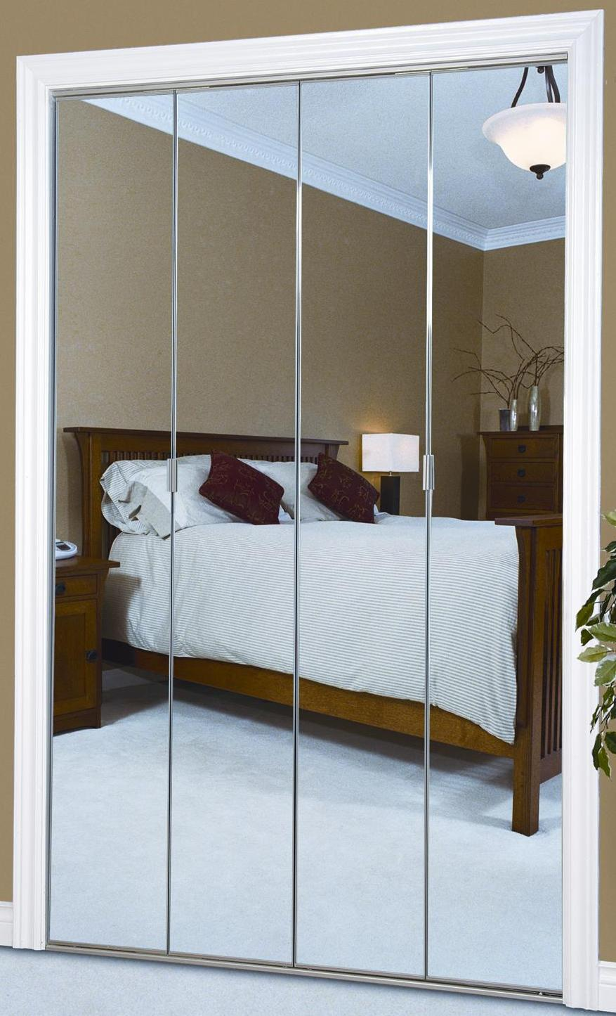 mirrored closet doors bifold photo - 9