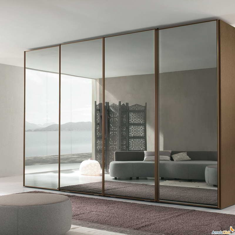 mirrored closet doors modern photo - 4