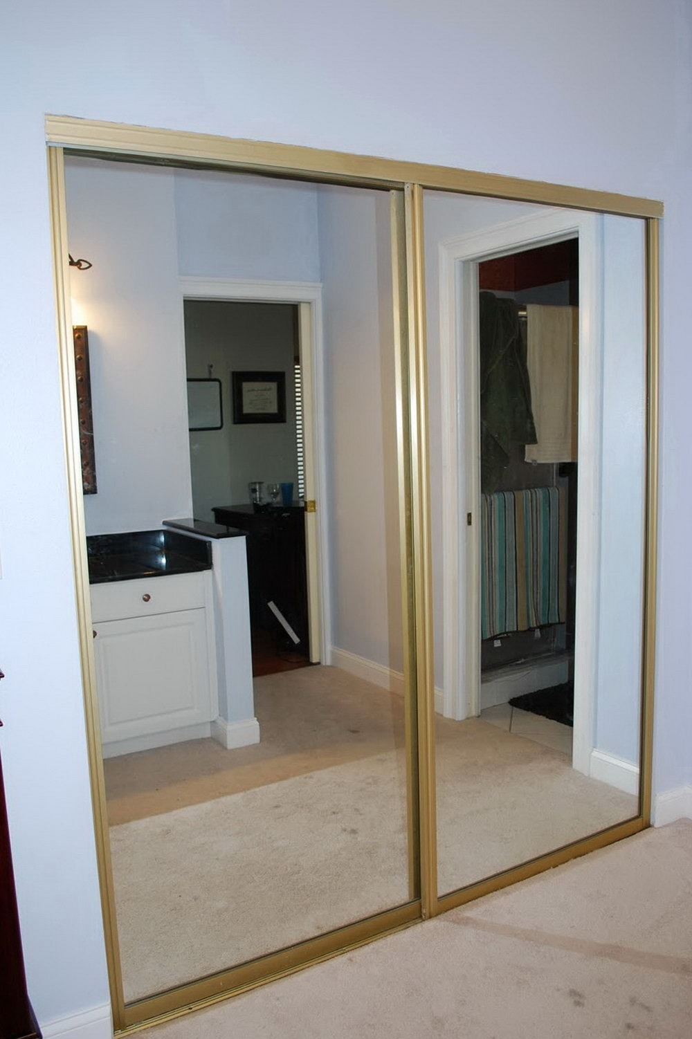 mirrored closet doors sliding photo - 3