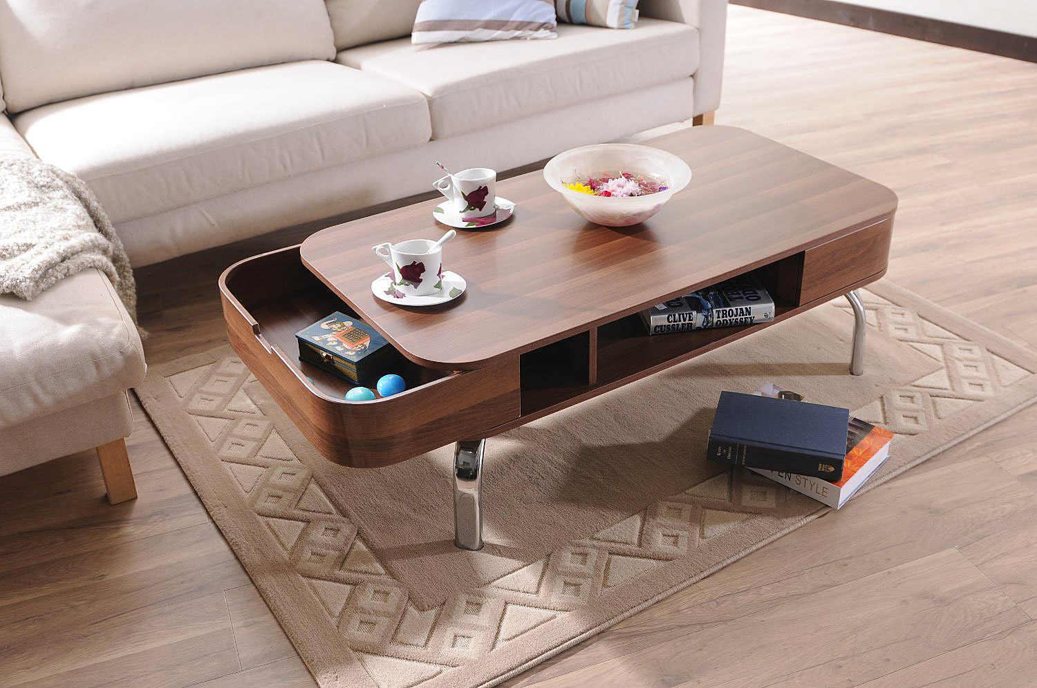 modern coffee table drawers photo - 6