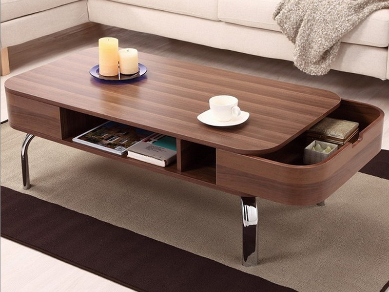 modern coffee table drawers photo - 7