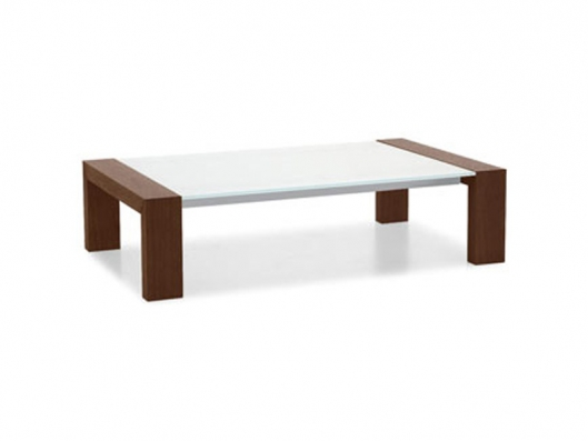 modern coffee table glass and wood photo - 10